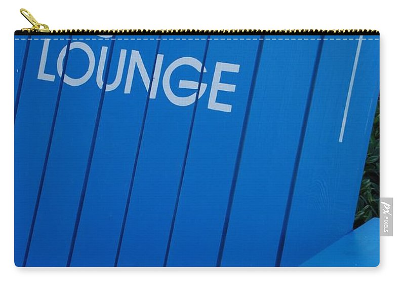 Bench Carry-all Pouch featuring the photograph Louie S Lounge by Rob Hans