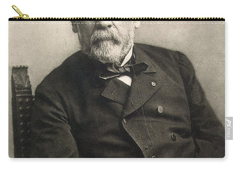 1889 Carry-all Pouch featuring the photograph Louis Pasteur (1822-1895) by Granger