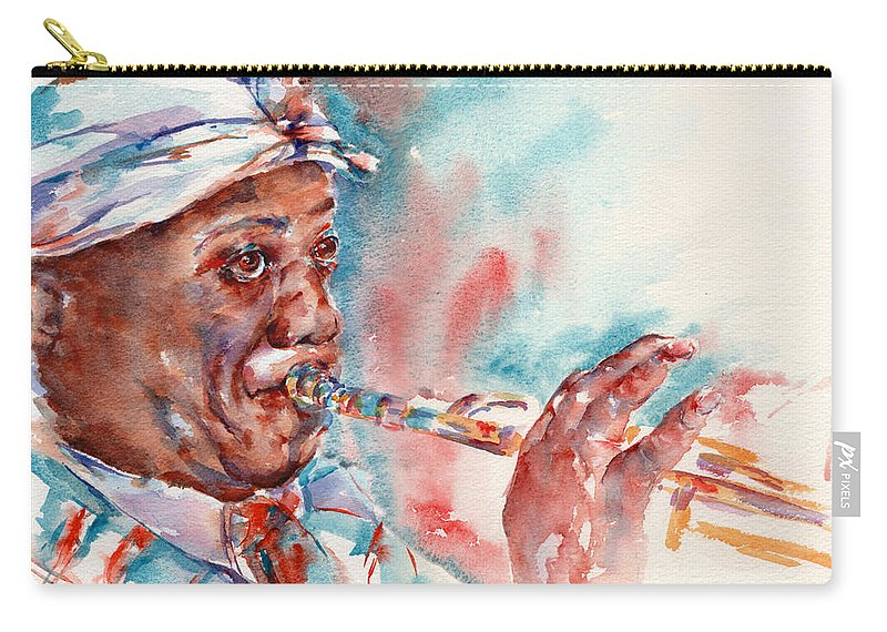 Louis Armstrong Carry-all Pouch featuring the painting Louis by Stephie Butler