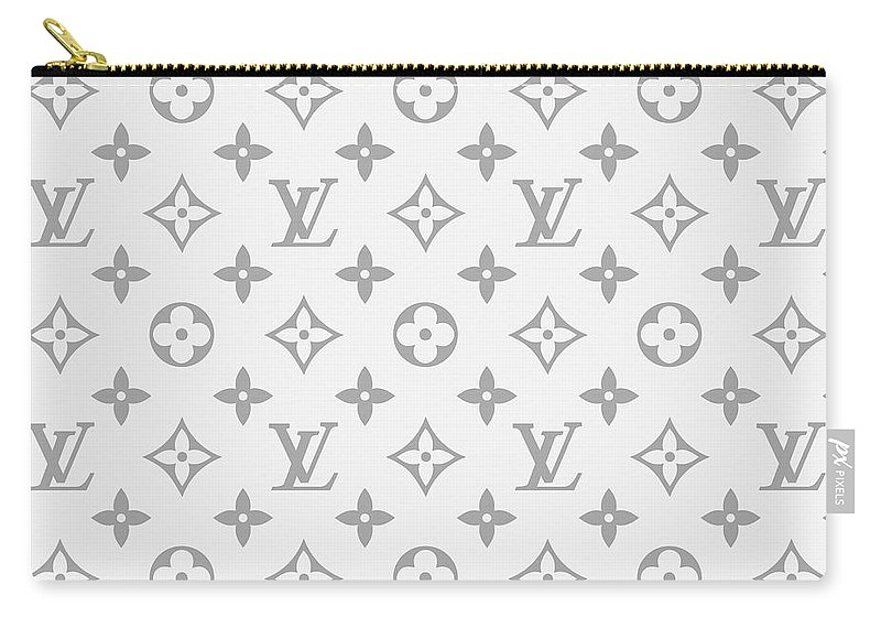 Louis Vuitton Carry-all Pouch featuring the digital art Louis Vuitton Pattern - Lv Pattern 14 - Fashion And Lifestyle by TUSCAN Afternoon