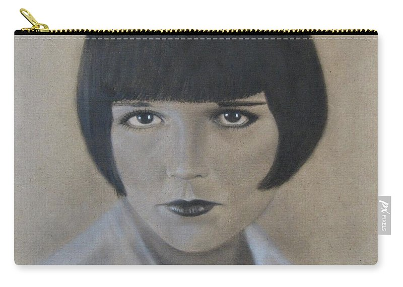 Woman Carry-all Pouch featuring the painting Louise by Lynet McDonald