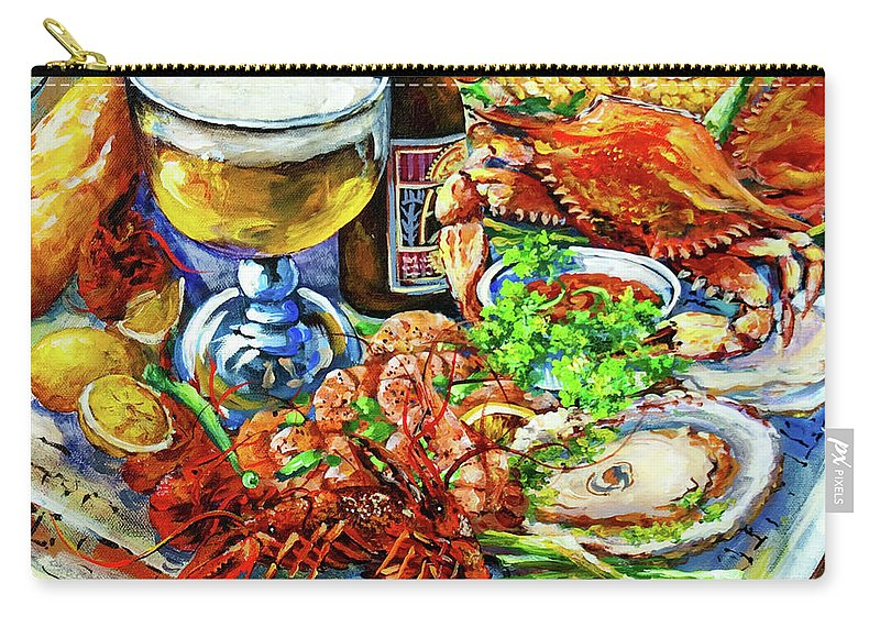 New Orleans Carry-all Pouch featuring the painting Louisiana 4 Seasons by Dianne Parks