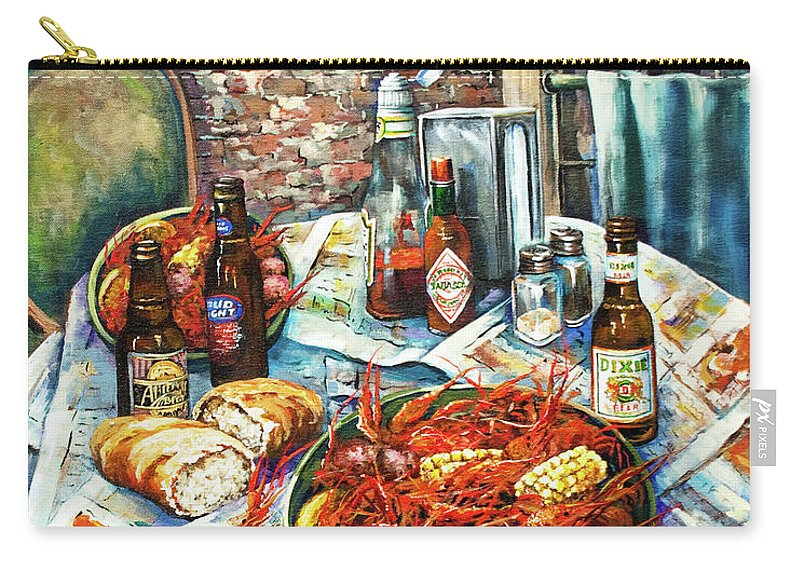 New Orleans Art Carry-all Pouch featuring the painting Louisiana Saturday Night by Dianne Parks