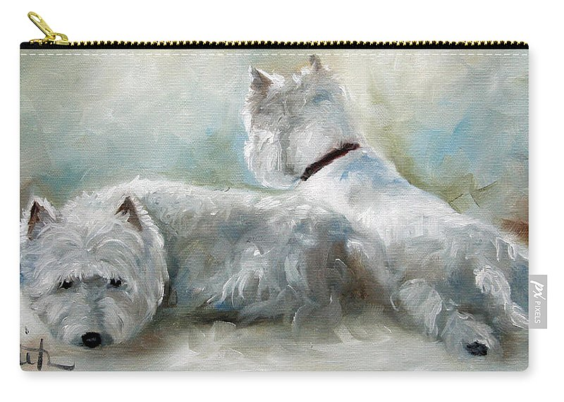 Art Carry-all Pouch featuring the painting Lounge by Mary Sparrow