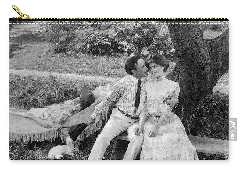 20th Century Carry-all Pouch featuring the photograph Love, 1906 by Granger