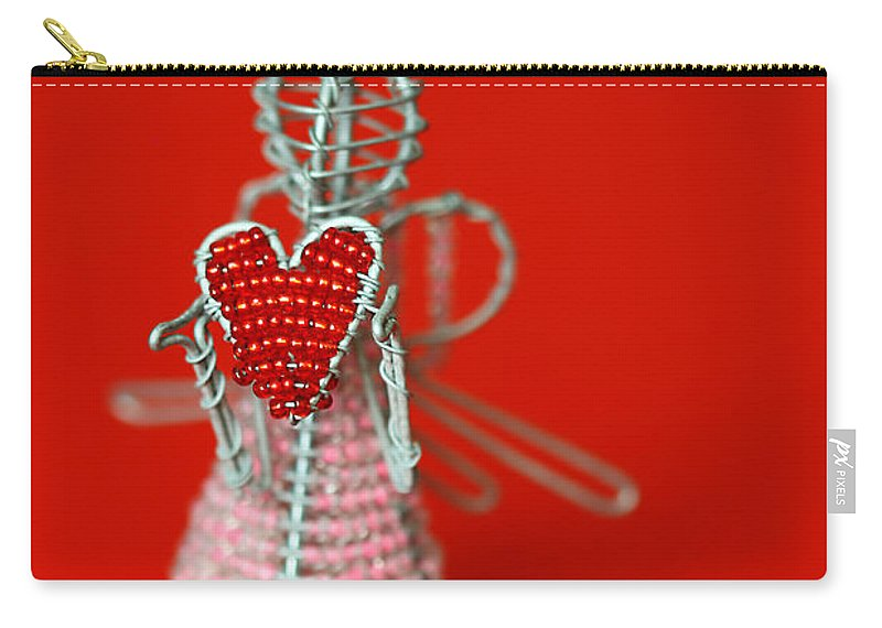 Toy Carry-all Pouch featuring the photograph Love Angel by Evelina Kremsdorf