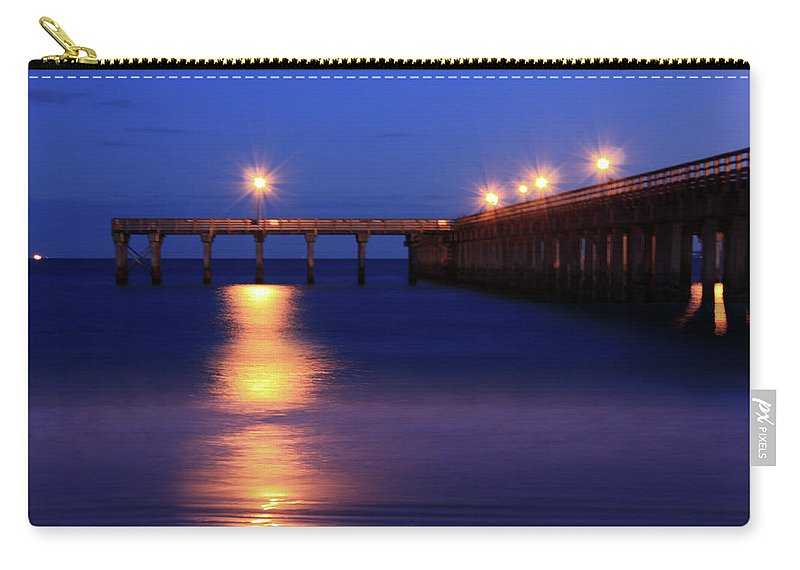 Nature Photograph Carry-all Pouch featuring the photograph Love Blue by Mark Ashkenazi