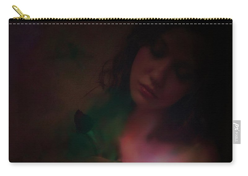 Headshot Carry-all Pouch featuring the photograph Love Can Hurt by Jeff Burgess