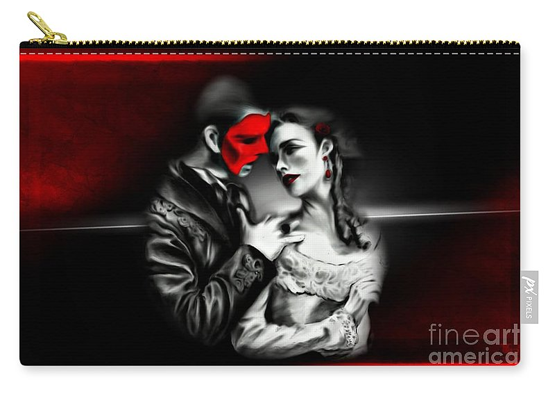 Couple Carry-all Pouch featuring the digital art Love Couple 2 by LDS Dya