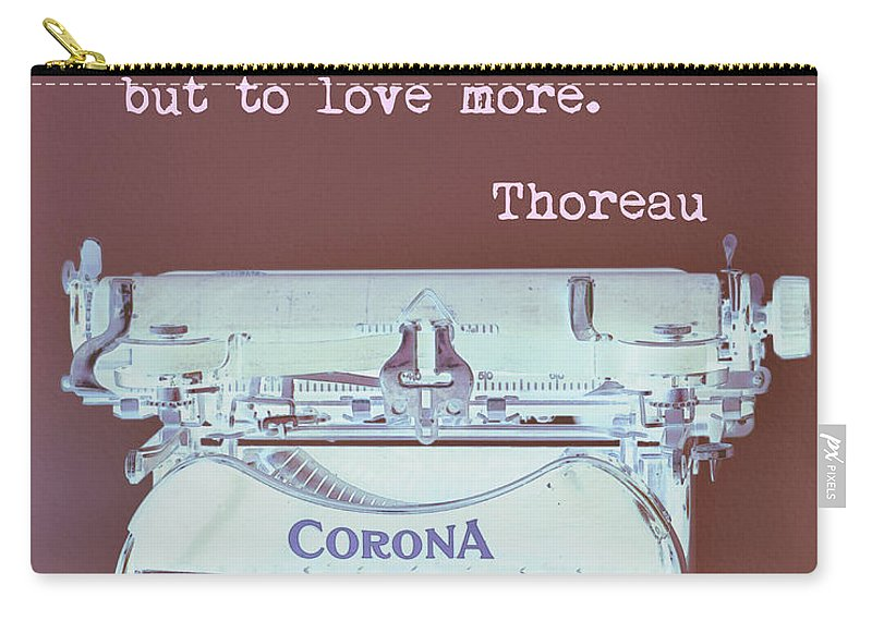Thoreau Carry-all Pouch featuring the digital art Love by David Hinds