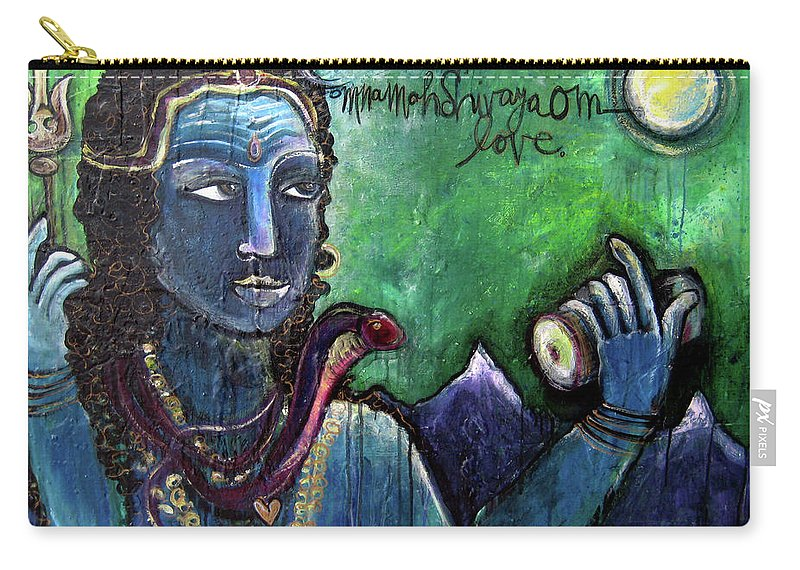 Shiva Carry-all Pouch featuring the painting Love For Shiva by Laurie Maves ART