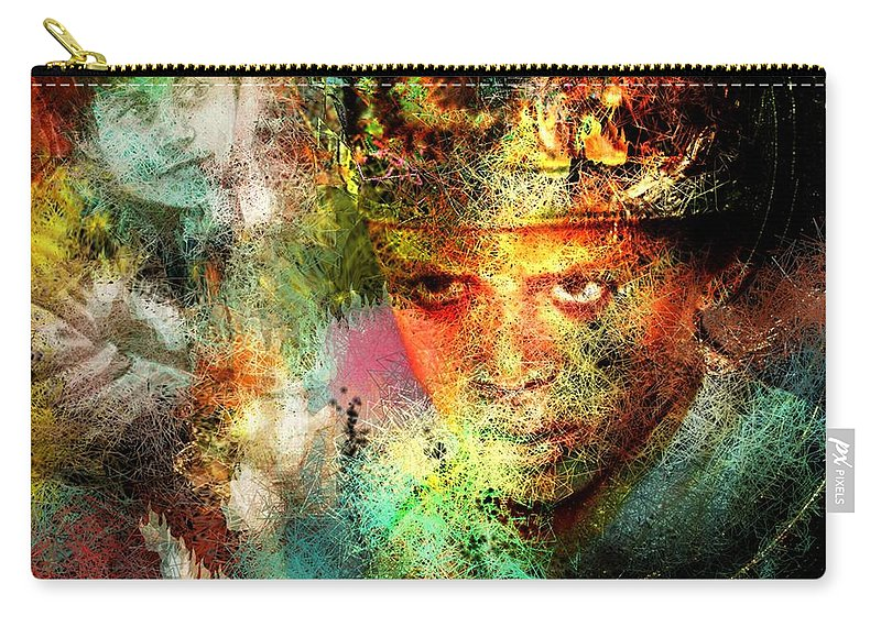 Portrait Carry-all Pouch featuring the painting Love For The Boy King by Miki De Goodaboom