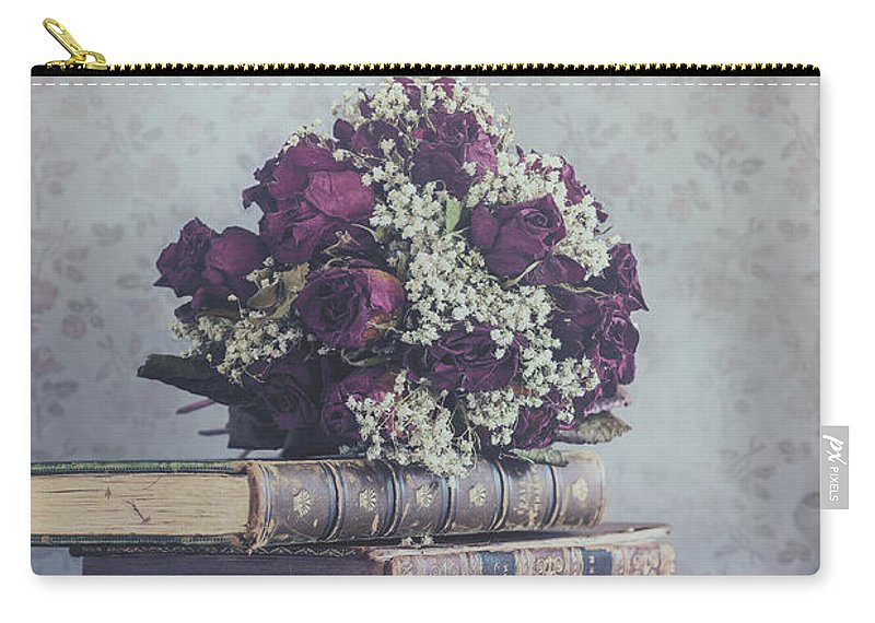 Book Carry-all Pouch featuring the photograph Love Forever by Joana Kruse