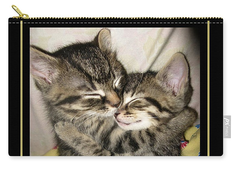 Cats Carry-all Pouch featuring the photograph Love by Heather King