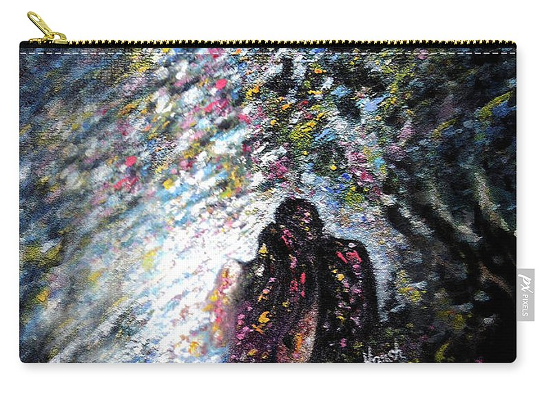 Love Carry-all Pouch featuring the painting Love In Niagara Fall by Harsh Malik