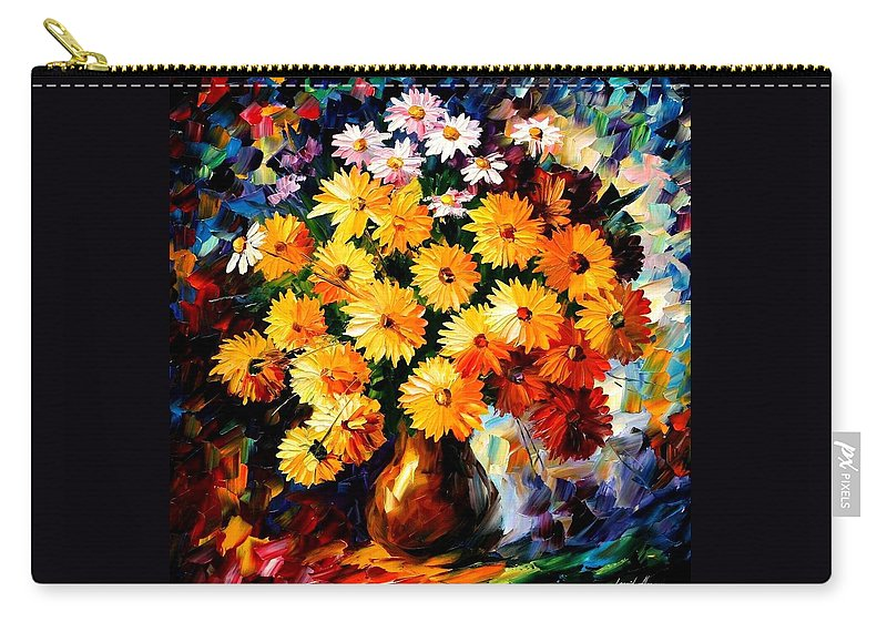 Flowers Carry-all Pouch featuring the painting Love Irradiation by Leonid Afremov