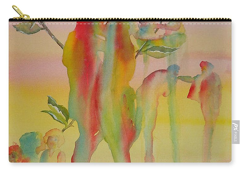 Love Carry-all Pouch featuring the painting Love Is Eternal by Debbie Lewis