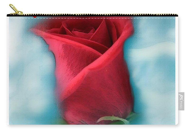 Rose Art Carry-all Pouch featuring the photograph Love Is In The Air by Linda Sannuti