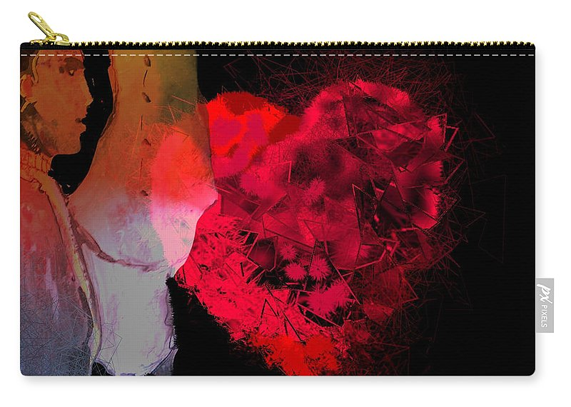 Love Carry-all Pouch featuring the painting Love Is In The Air by Miki De Goodaboom