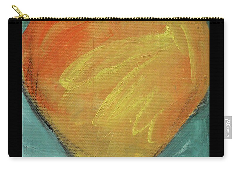 Heart Carry-all Pouch featuring the painting Love Is Just A Word by Tim Nyberg