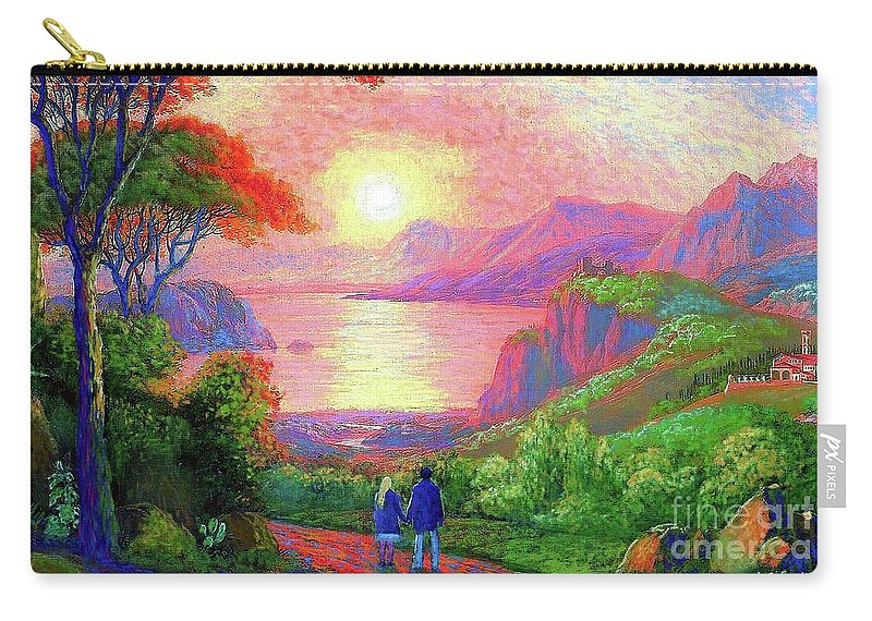 Sun Carry-all Pouch featuring the painting Love Is Sharing The Journey by Jane Small