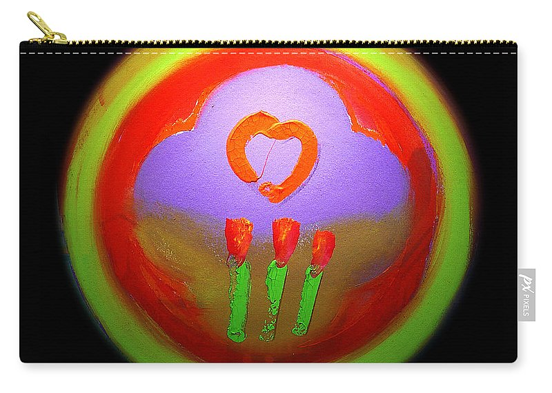 Love Carry-all Pouch featuring the painting Love Landscape Three by Charles Stuart