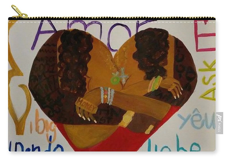 Love Carry-all Pouch featuring the painting Love Language by Autoya Vance