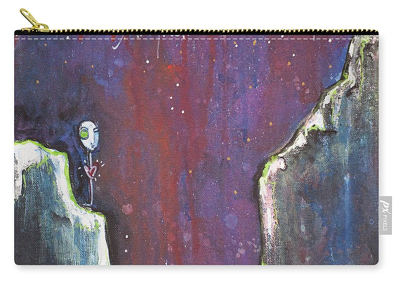 Love Carry-all Pouch featuring the painting Love Like A Riot by Laurie Maves ART