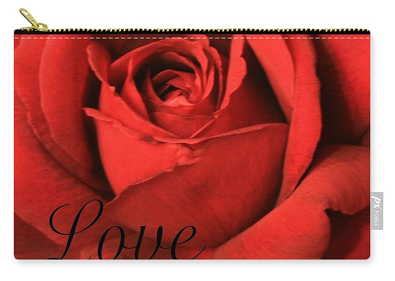 I Love You Carry-all Pouch featuring the photograph Love by Marna Edwards Flavell