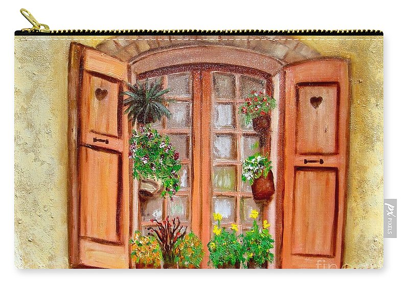 Windows Carry-all Pouch featuring the painting Love Nest by Laurie Morgan