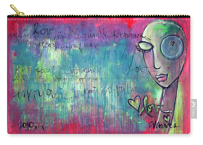 Love Carry-all Pouch featuring the painting Love Painting by Laurie Maves ART