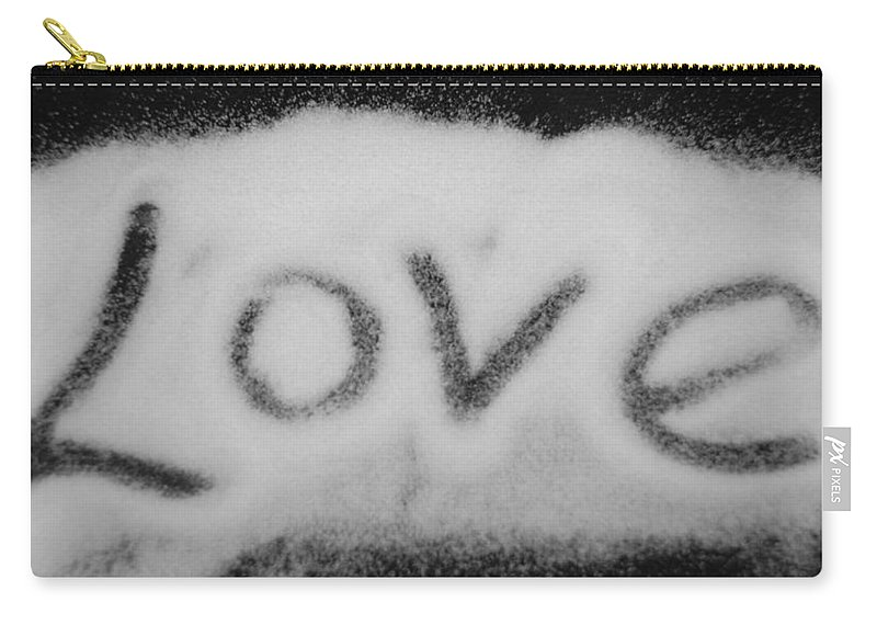 Black And White Carry-all Pouch featuring the photograph Love by Rob Hans