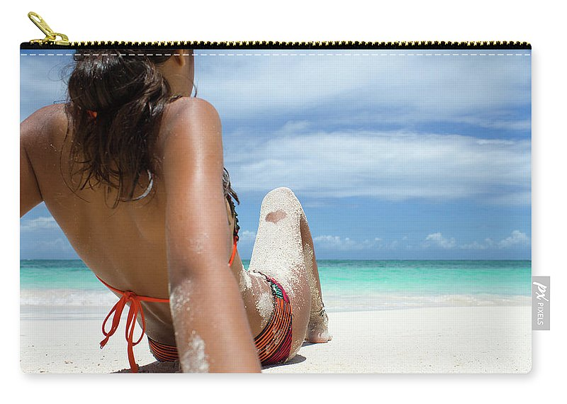 Antigua And Barbuda Carry-all Pouch featuring the photograph Love The Beach by Ferry Zievinger