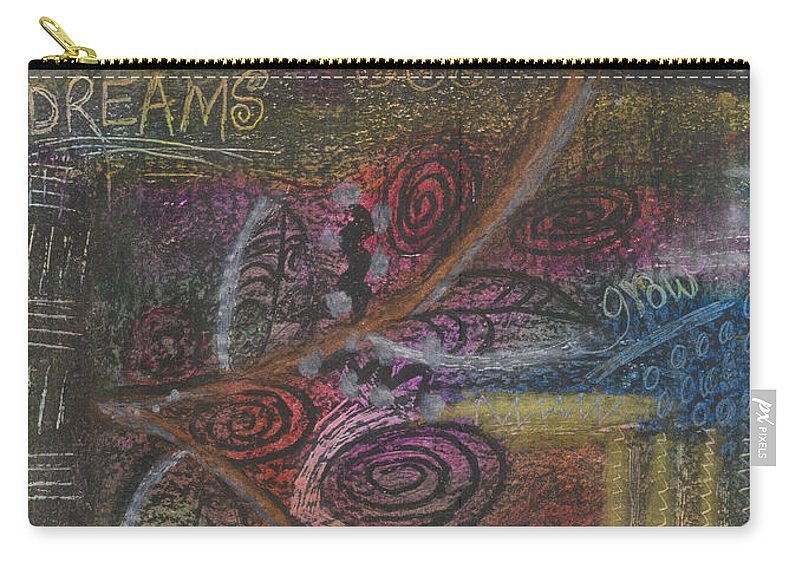 Abstract Carry-all Pouch featuring the mixed media Love To Dream by Angela L Walker