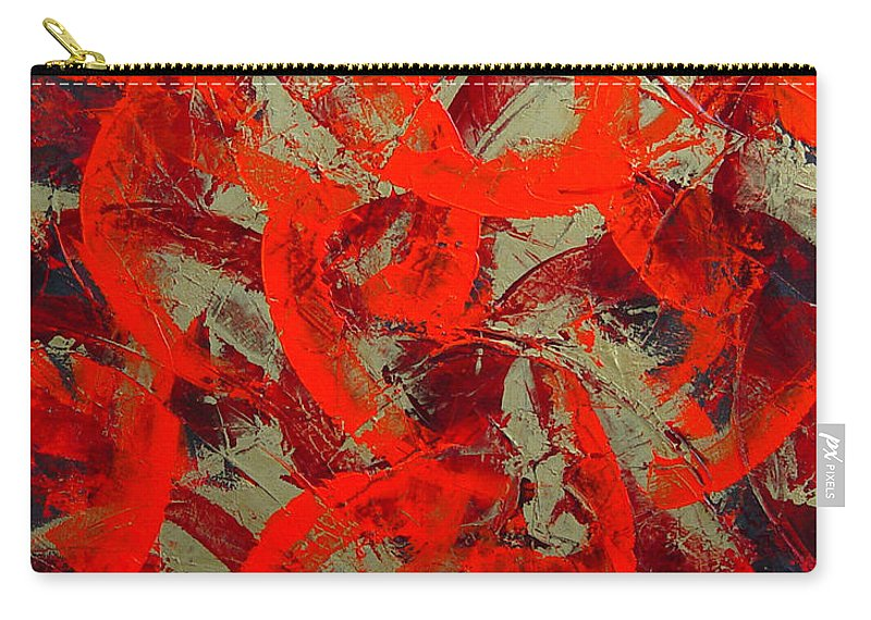 Abstract Carry-all Pouch featuring the painting Love Trails by Dean Triolo