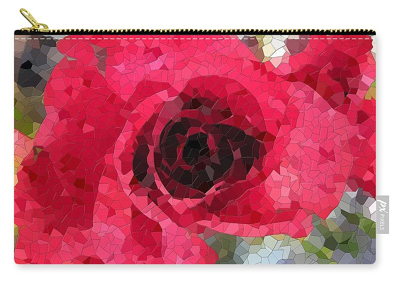 Rose Carry-all Pouch featuring the digital art Love You by Tim Allen