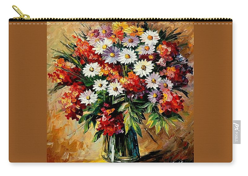 Still Life Carry-all Pouch featuring the painting Lovely Bouquet by Leonid Afremov