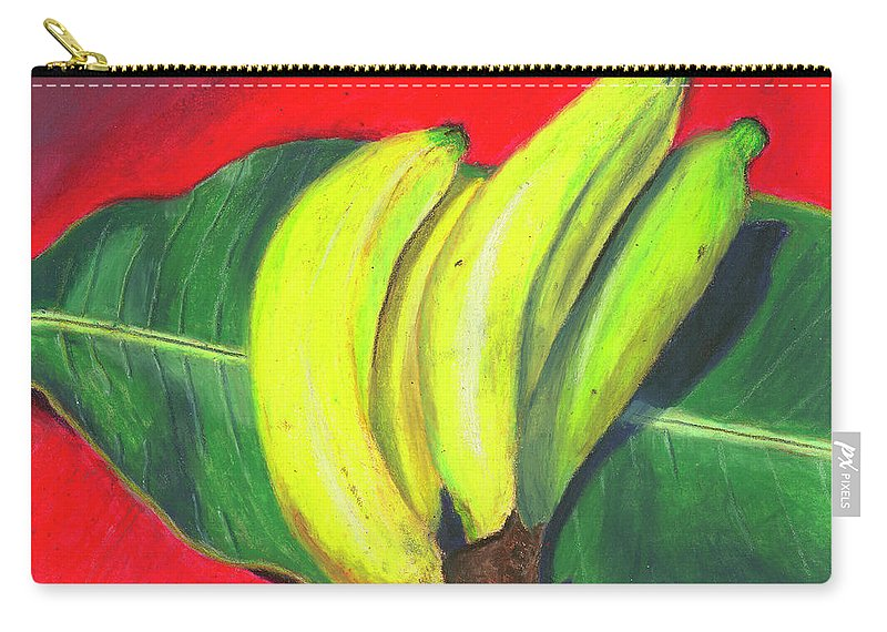 Bananas Carry-all Pouch featuring the painting Lovely Bunch Of Bananas by Arlene Crafton