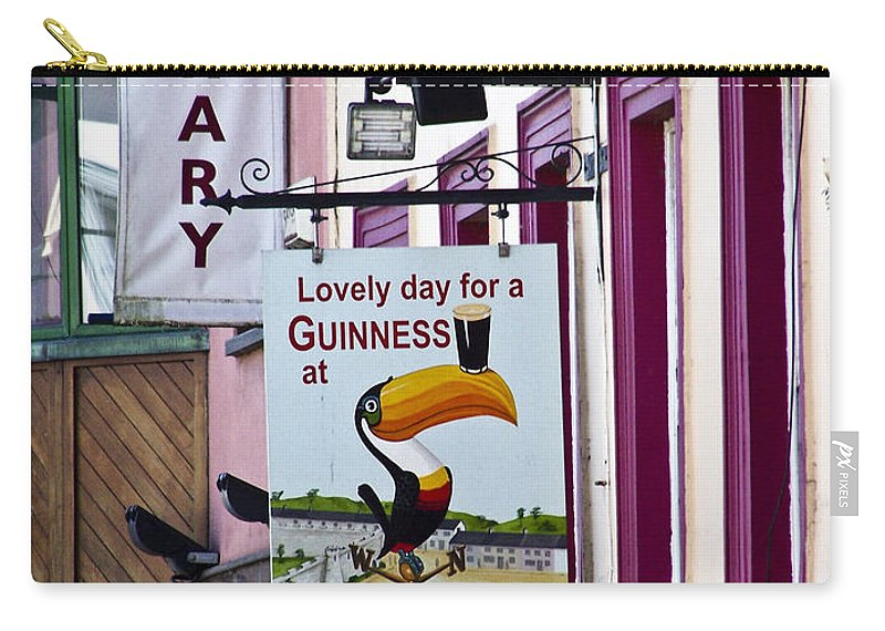 Irish Carry-all Pouch featuring the photograph Lovely Day For A Guinness Macroom Ireland by Teresa Mucha
