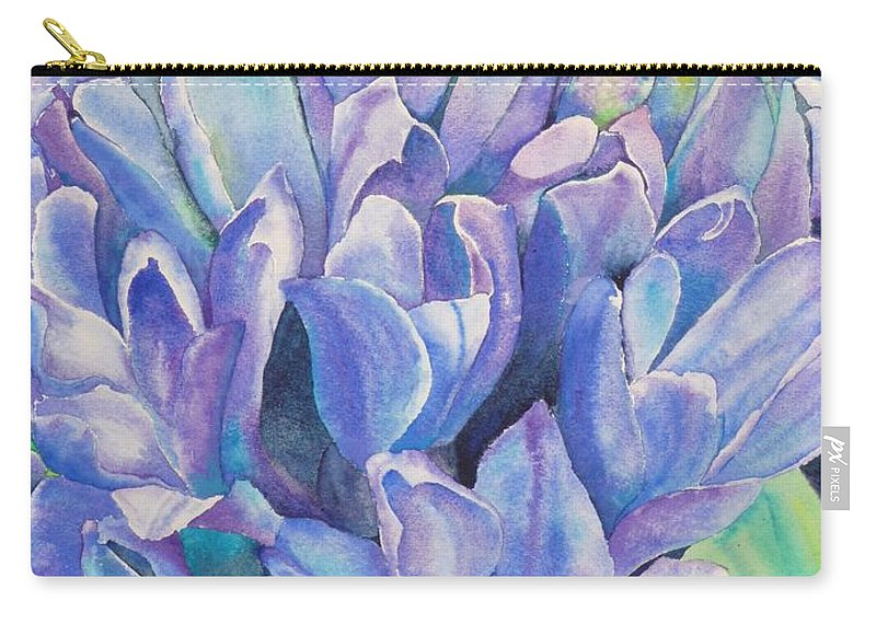 Flower Carry-all Pouch featuring the painting Lovely Lupine by Ruth Kamenev