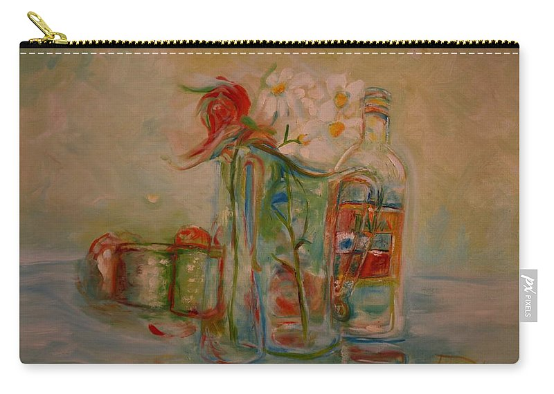 Rose Carry-all Pouch featuring the painting Lovers Picnic by Jack Diamond