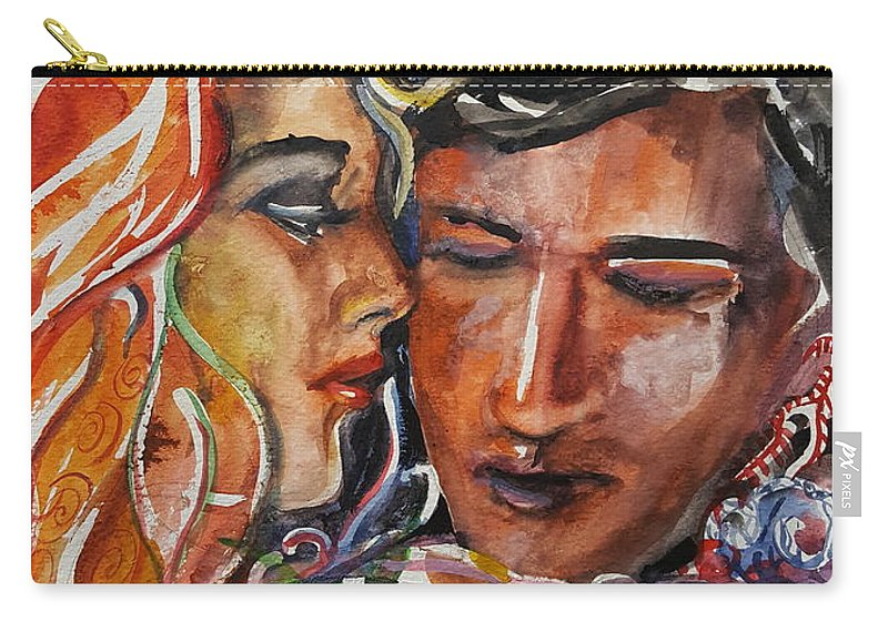 Love Carry-all Pouch featuring the painting Lovers by Rita Fetisov