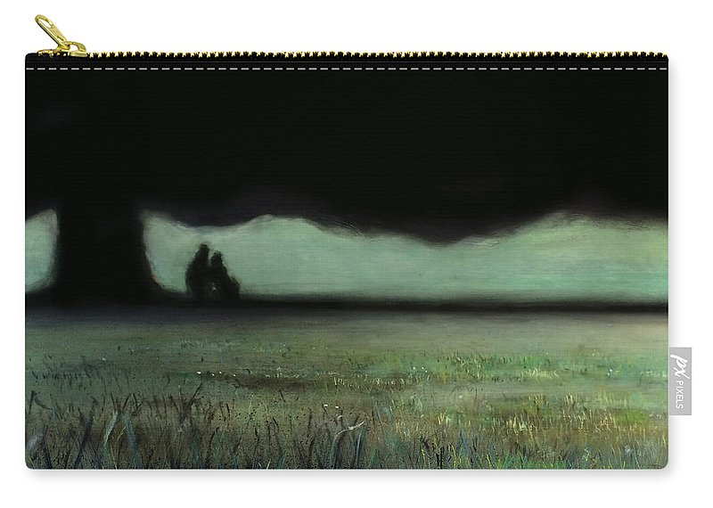 The Kiss Carry-all Pouch featuring the painting Lovers Tree by Antonio Ortiz