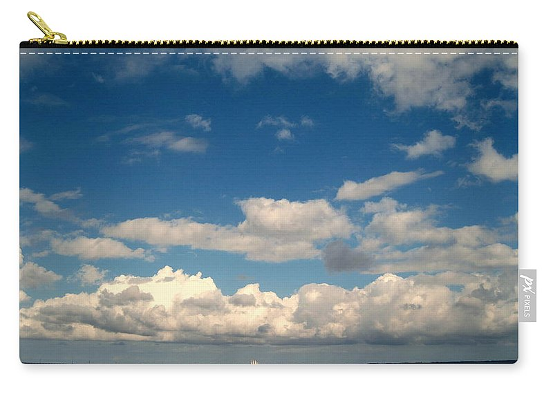 Clouds Carry-all Pouch featuring the photograph Low Hanging Clouds by Susanne Van Hulst