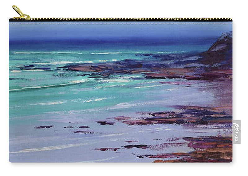 Nature Carry-all Pouch featuring the painting Low Tide Colors by Graham Gercken