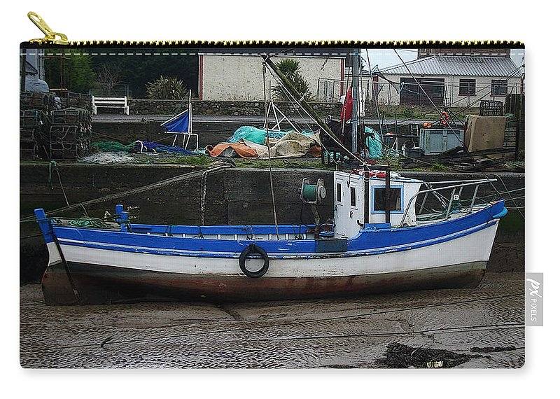 Boat Carry-all Pouch featuring the photograph Low Tide by Tim Nyberg