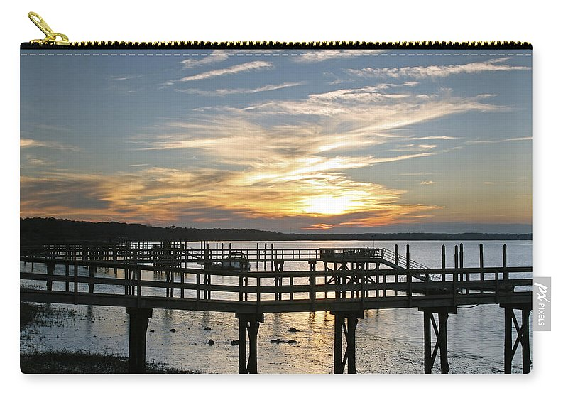 Sunset Carry-all Pouch featuring the photograph Low Tide by Phill Doherty