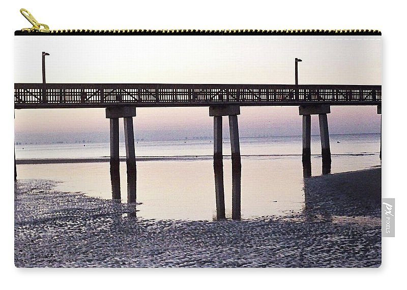 Florida Carry-all Pouch featuring the photograph Low Tide Reflected Gp by Chris Andruskiewicz