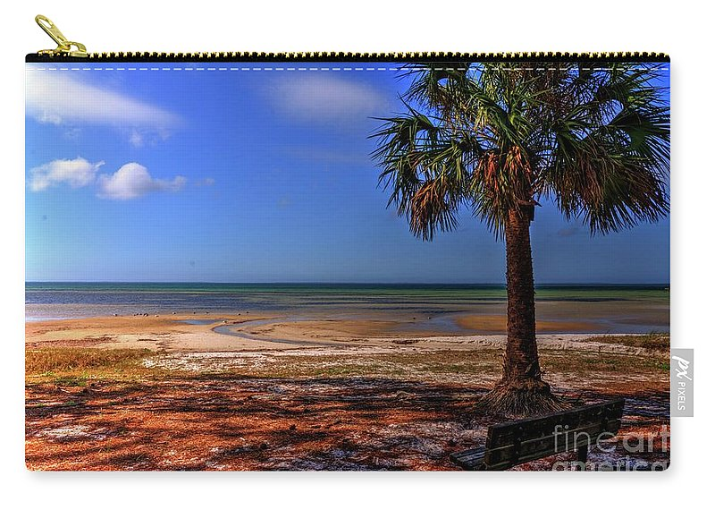 Tide Carry-all Pouch featuring the photograph Low Tide Time by Paul Lindner