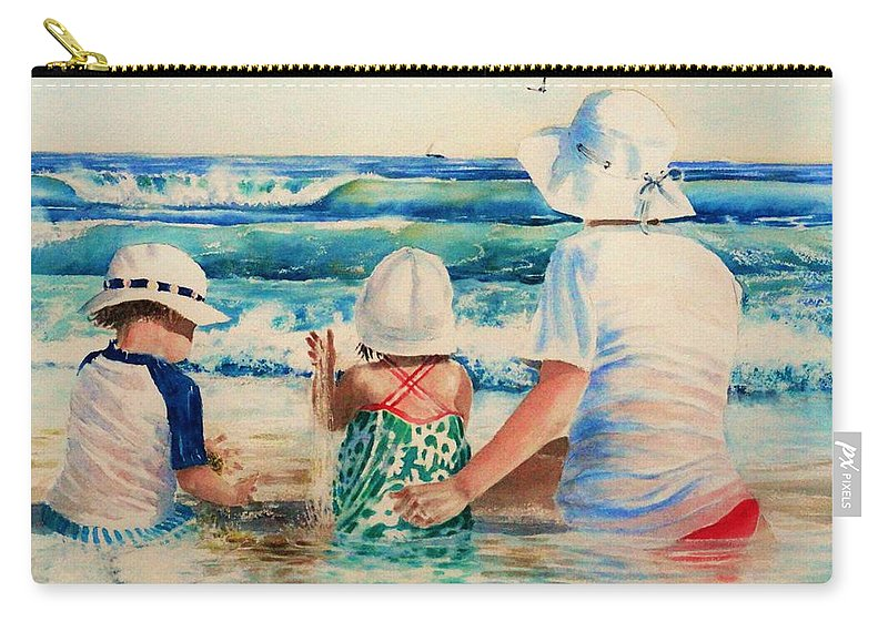 Beach Carry-all Pouch featuring the painting Low Tide by Tom Harris